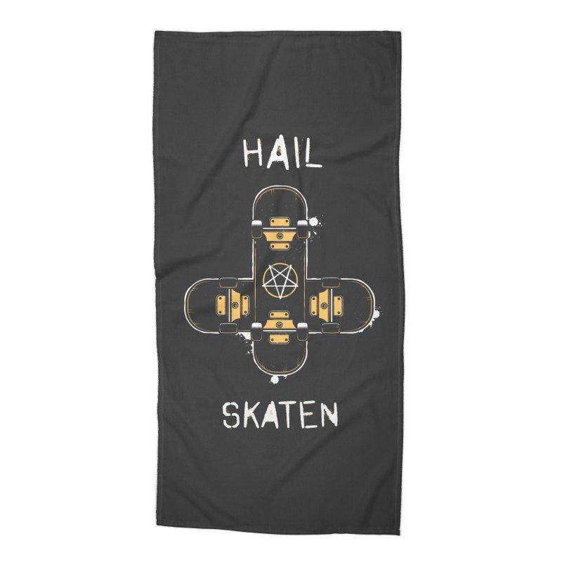 Hail Skaten Accessories Beach Towel by zoljo's Artist Shop