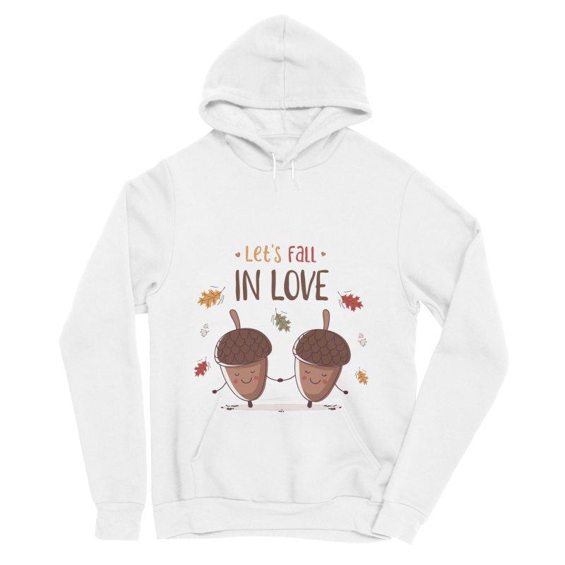 Let's Fall In Love Men's Sponge Fleece Pullover Hoody by zoljo's Artist Shop