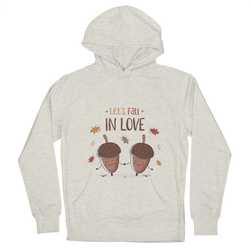 Let's Fall In Love Men's French Terry Pullover Hoody by zoljo's Artist Shop