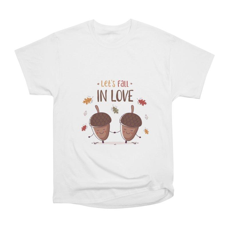 Let's Fall In Love Men's Heavyweight T-Shirt by zoljo's Artist Shop
