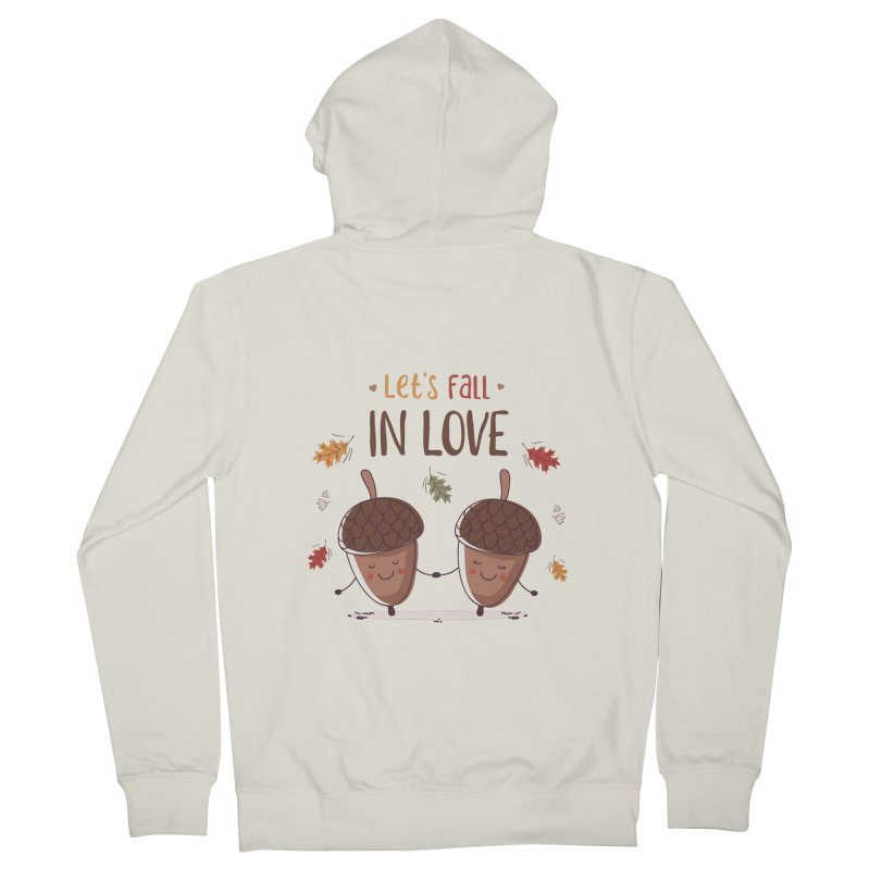 Let's Fall In Love Men's French Terry Zip-Up Hoody by zoljo's Artist Shop