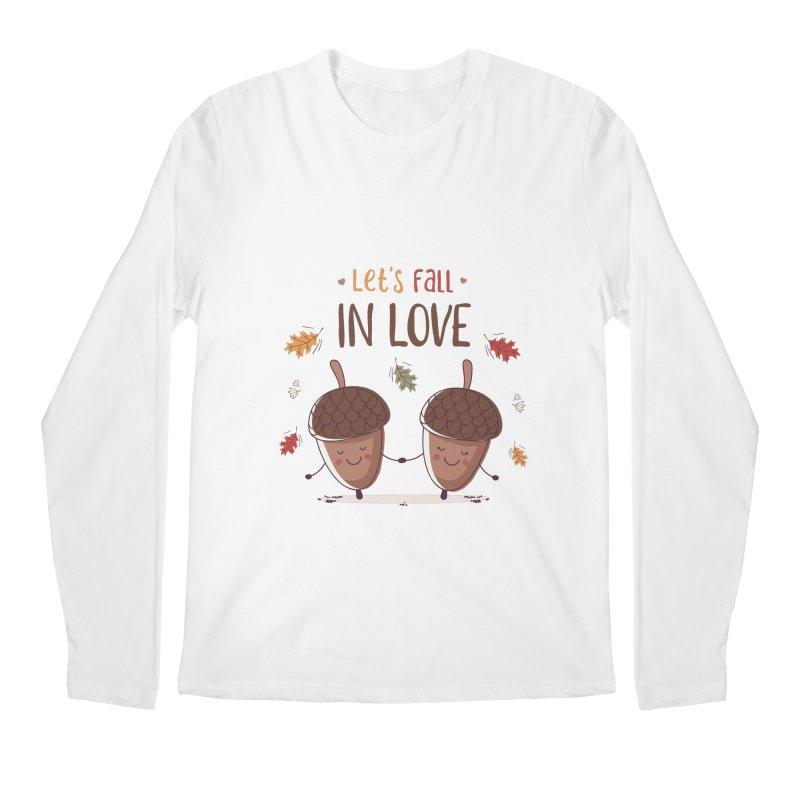 Let's Fall In Love Men's Regular Longsleeve T-Shirt by zoljo's Artist Shop
