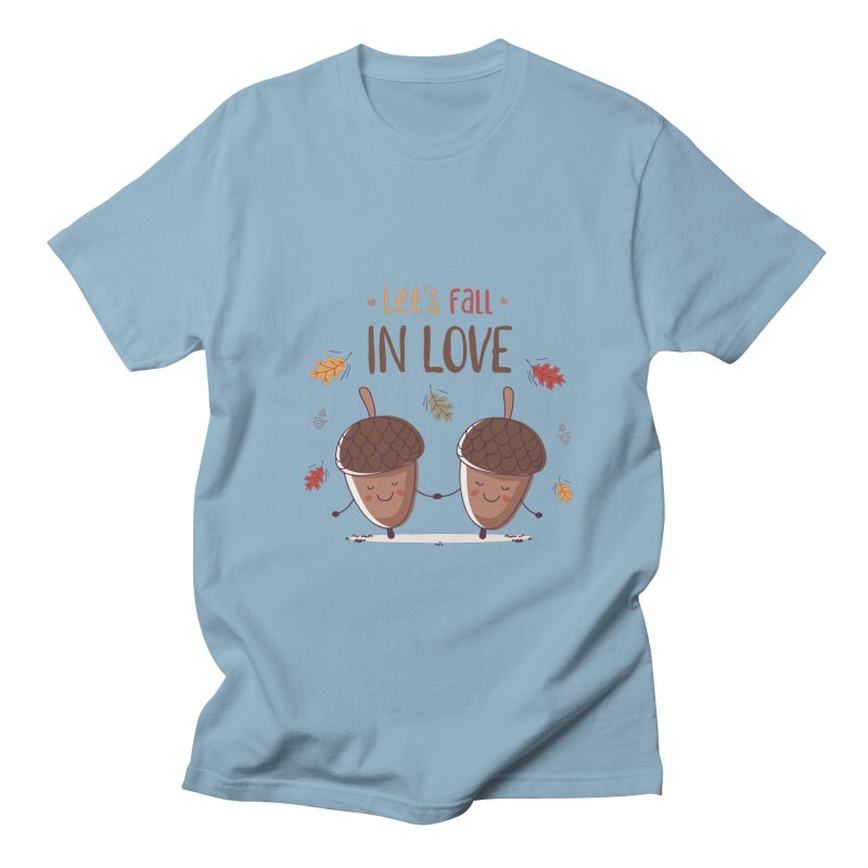 Let's Fall In Love Men's Regular T-Shirt by zoljo's Artist Shop