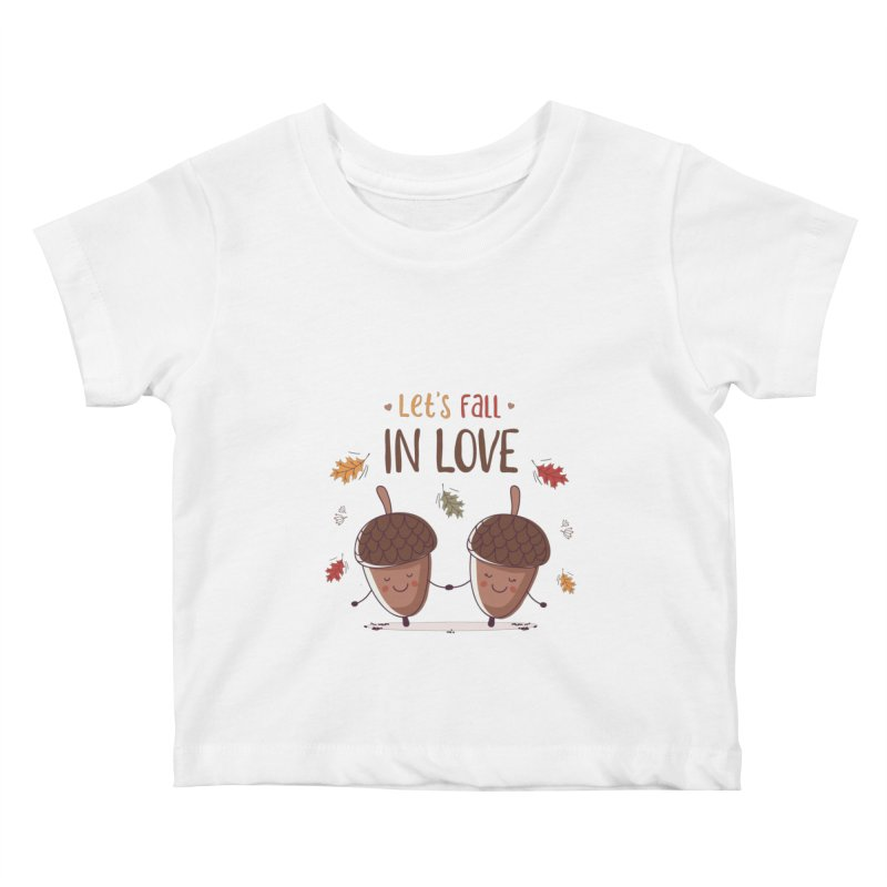 Let's Fall In Love Kids Baby T-Shirt by zoljo's Artist Shop