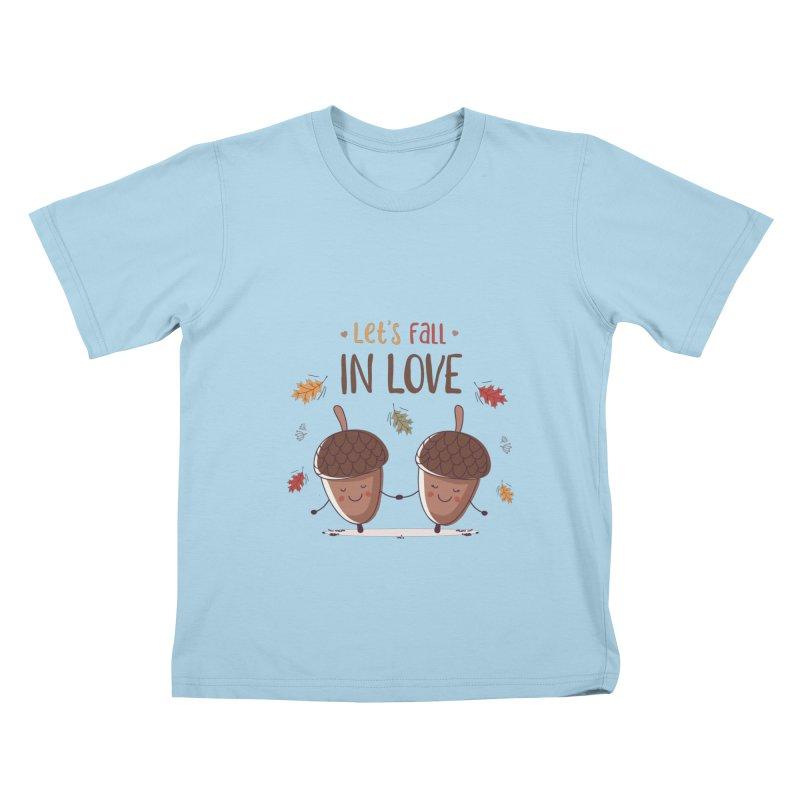 Let's Fall In Love Kids T-Shirt by zoljo's Artist Shop