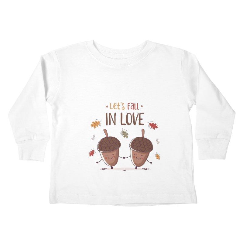 Let's Fall In Love Kids Toddler Longsleeve T-Shirt by zoljo's Artist Shop