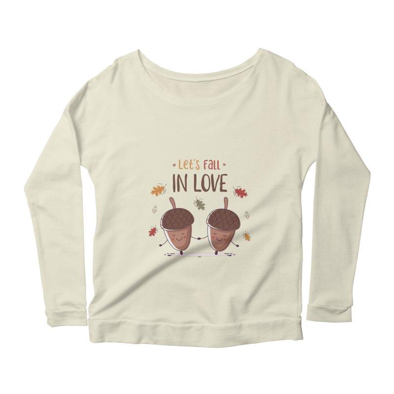 Let's Fall In Love Women's Scoop Neck Longsleeve T-Shirt by zoljo's Artist Shop
