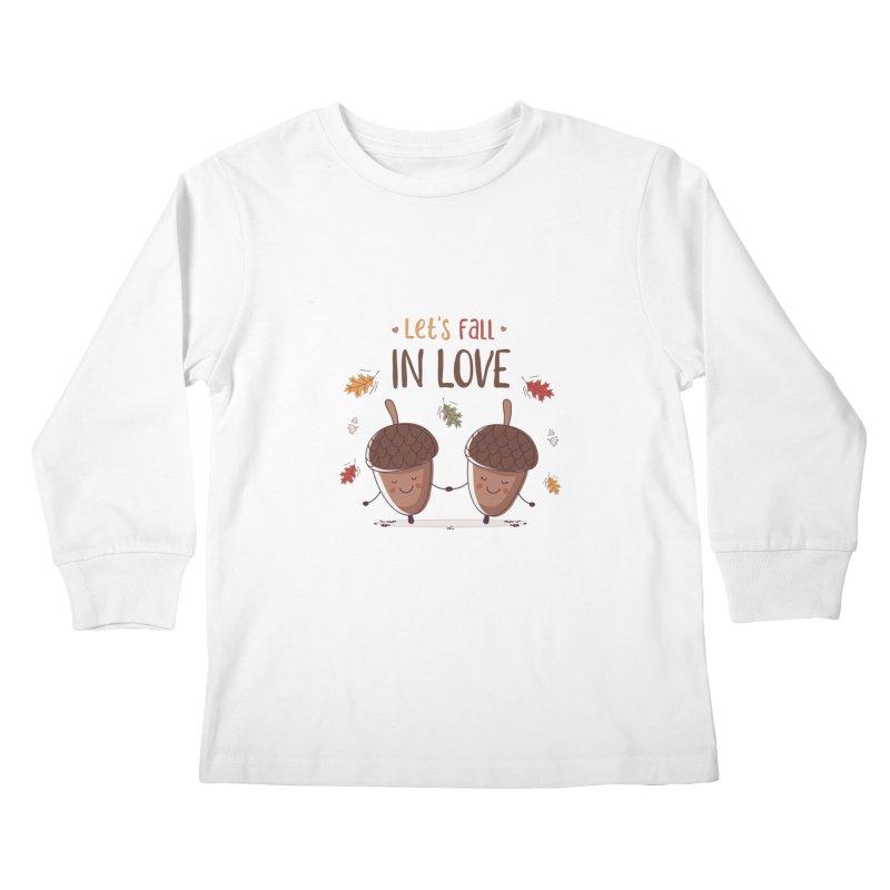 Let's Fall In Love Kids Longsleeve T-Shirt by zoljo's Artist Shop