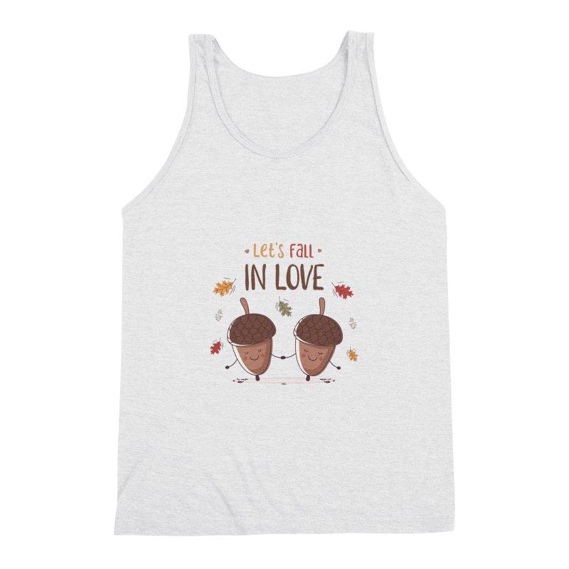 Let's Fall In Love Men's Triblend Tank by zoljo's Artist Shop