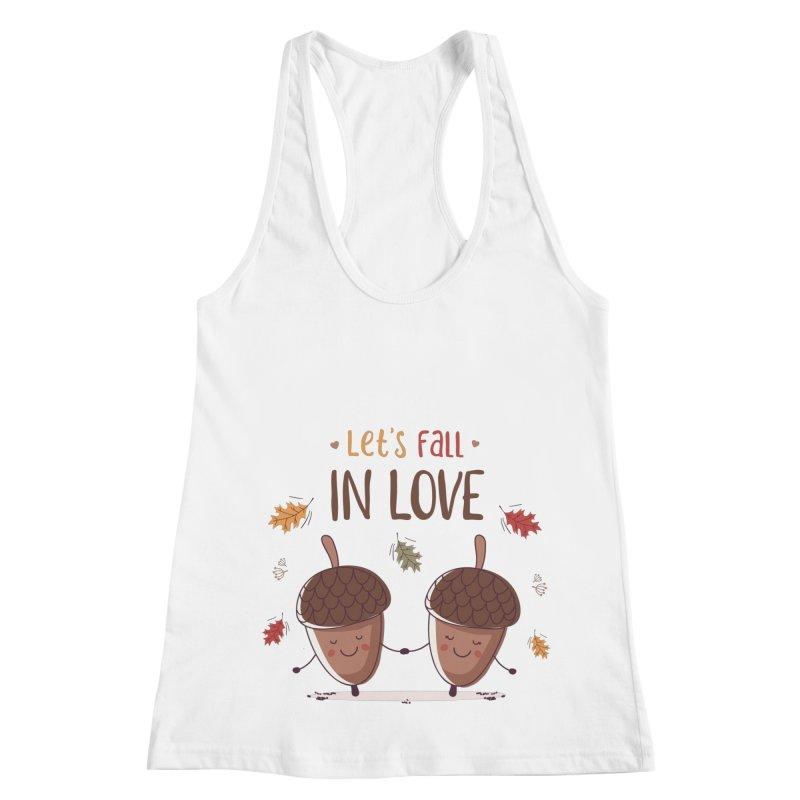 Let's Fall In Love Women's Racerback Tank by zoljo's Artist Shop