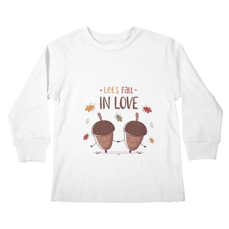 Let's Fall In Love Kids Longsleeve T-Shirt by zoljo's Artist Shop