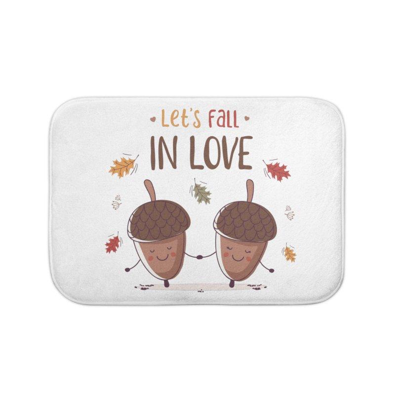 Let's Fall In Love Home Bath Mat by zoljo's Artist Shop