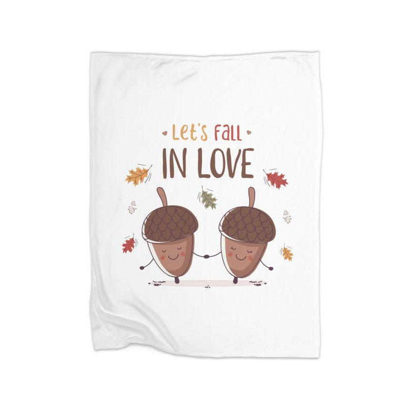 Let's Fall In Love Home Blanket by zoljo's Artist Shop