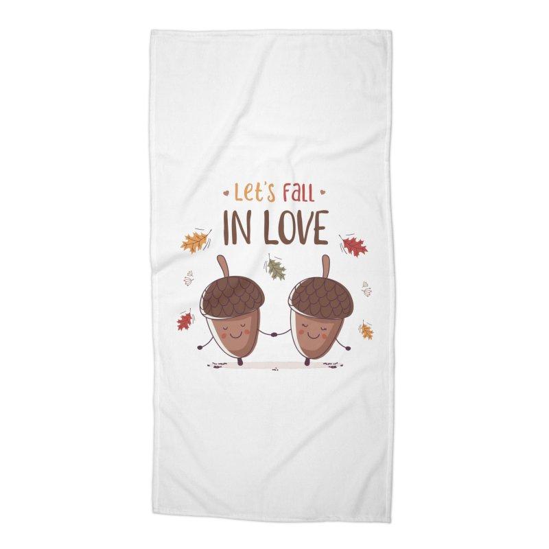 Let's Fall In Love Accessories Beach Towel by zoljo's Artist Shop