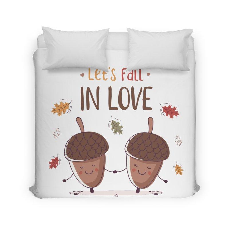 Let's Fall In Love Home Duvet by zoljo's Artist Shop