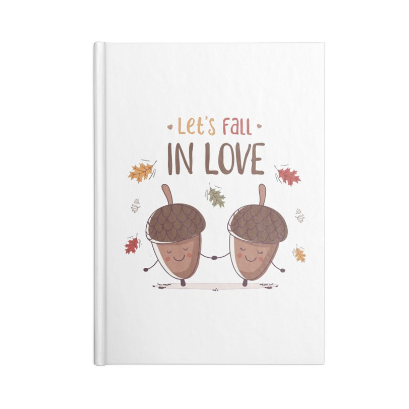 Let's Fall In Love Accessories Blank Journal Notebook by zoljo's Artist Shop