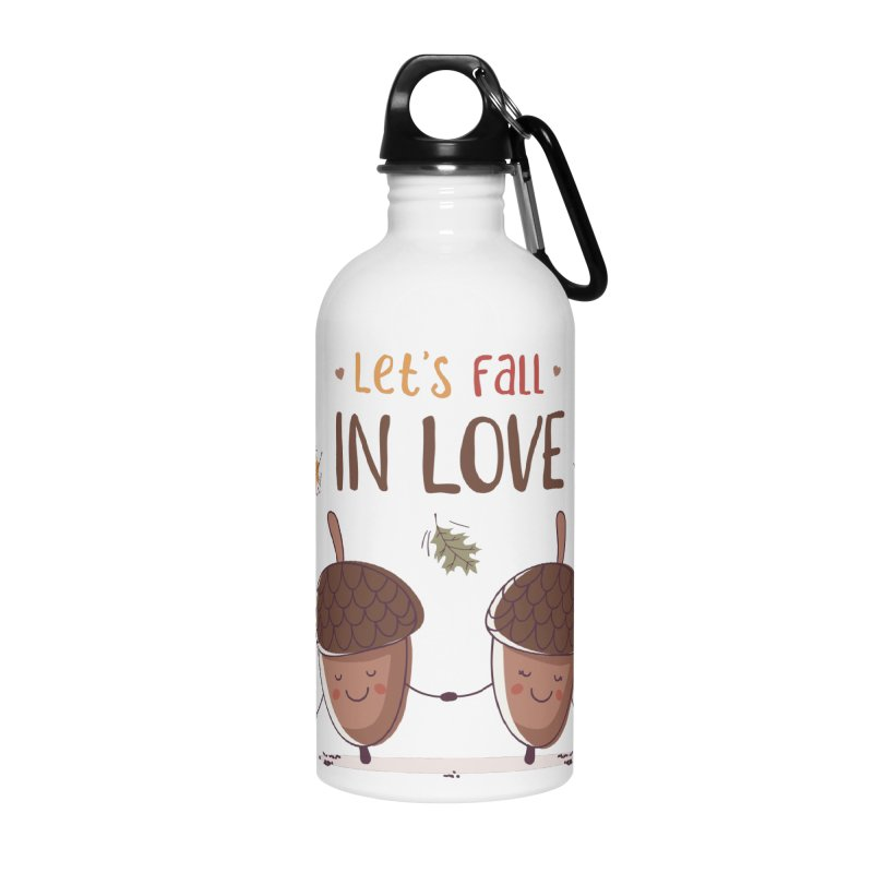 Let's Fall In Love Accessories Water Bottle by zoljo's Artist Shop