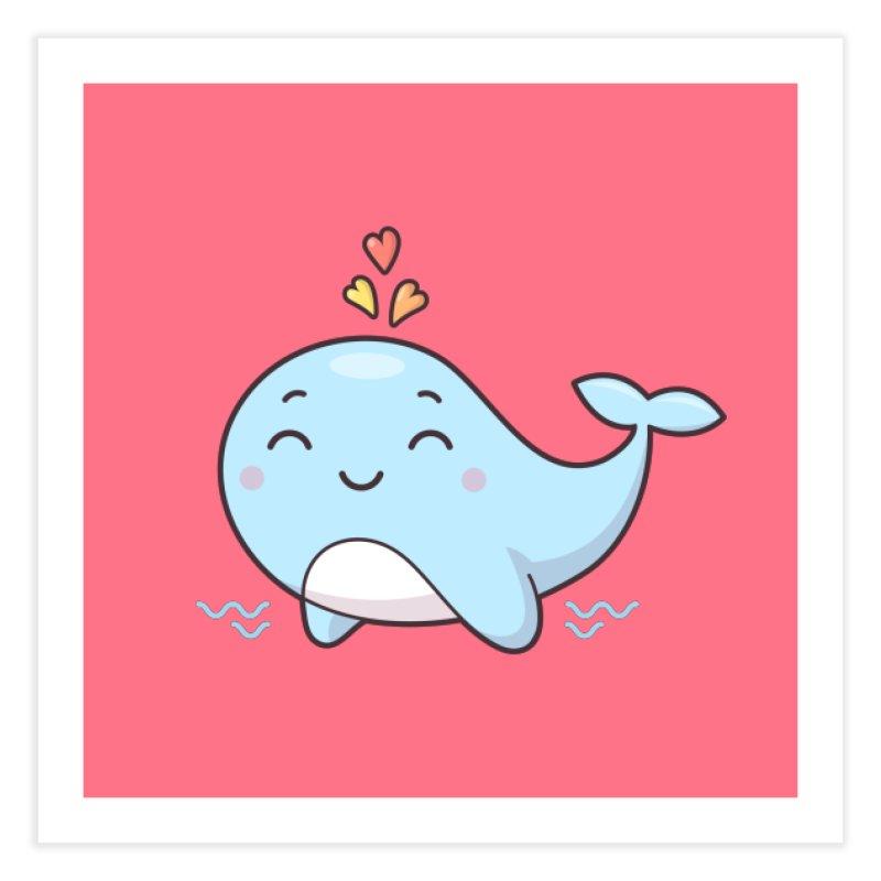 Cute Whale Home Fine Art Print by zoljo's Artist Shop