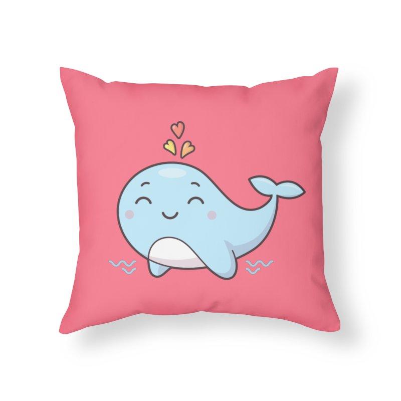 Cute Whale Home Throw Pillow by zoljo's Artist Shop