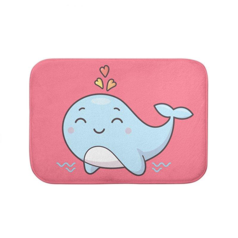 Cute Whale Home Bath Mat by zoljo's Artist Shop
