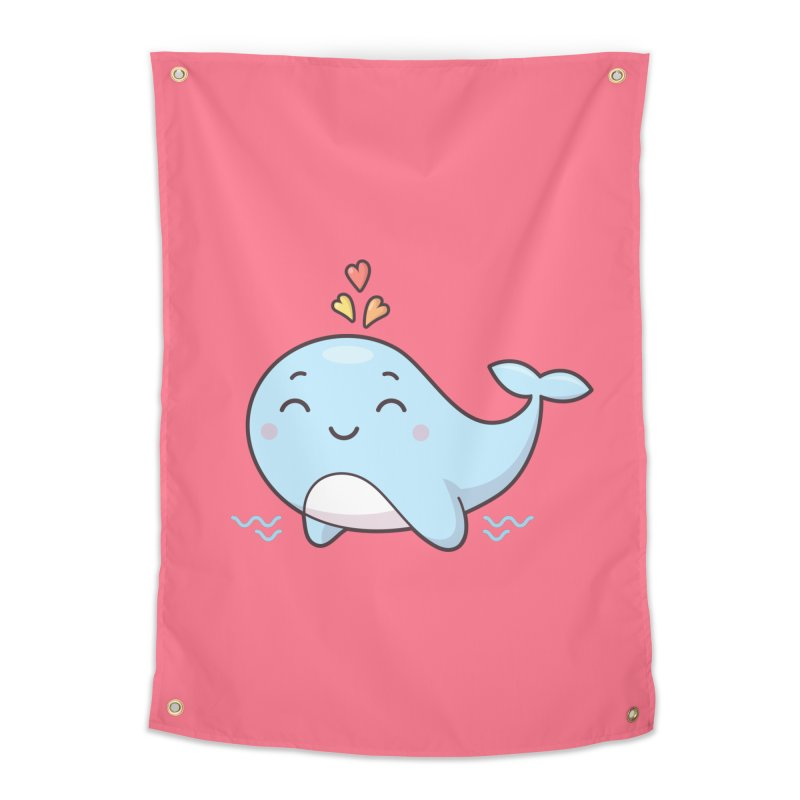 Cute Whale Home Tapestry by zoljo's Artist Shop