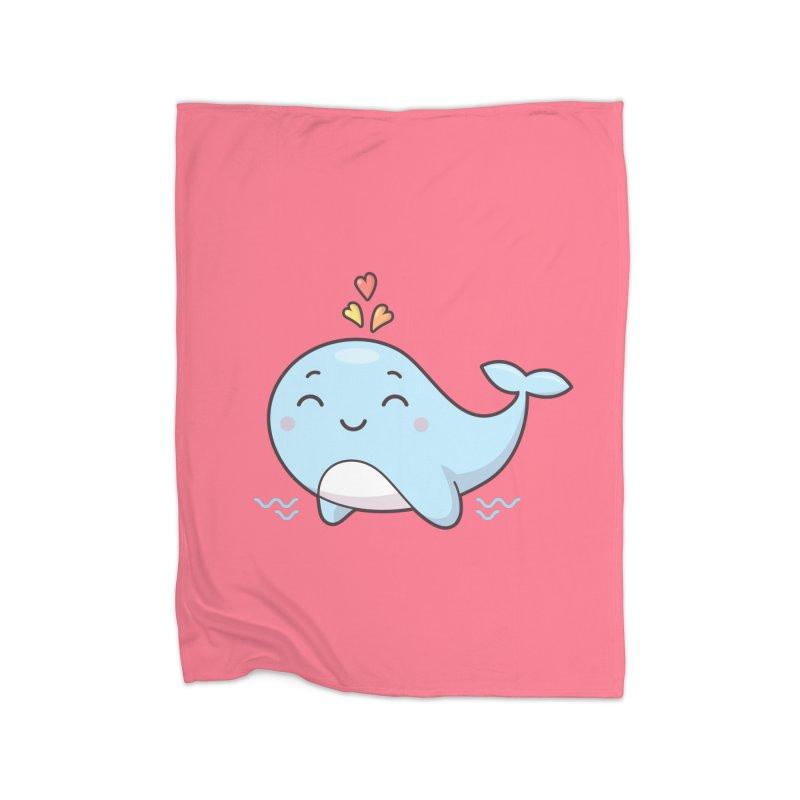 Cute Whale Home Blanket by zoljo's Artist Shop