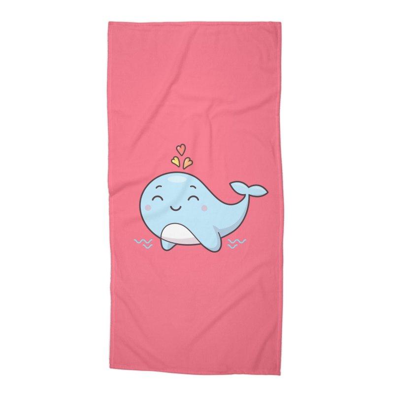 Cute Whale Accessories Beach Towel by zoljo's Artist Shop