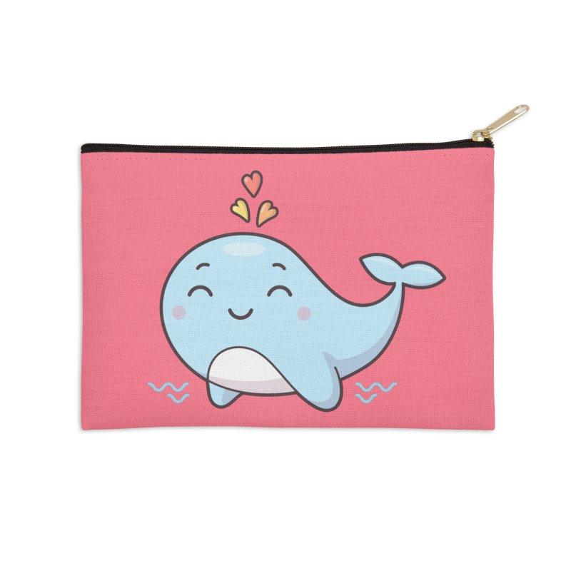 Cute Whale Accessories Zip Pouch by zoljo's Artist Shop