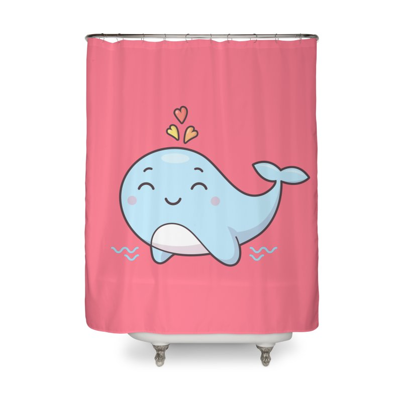 Cute Whale Home Shower Curtain by zoljo's Artist Shop