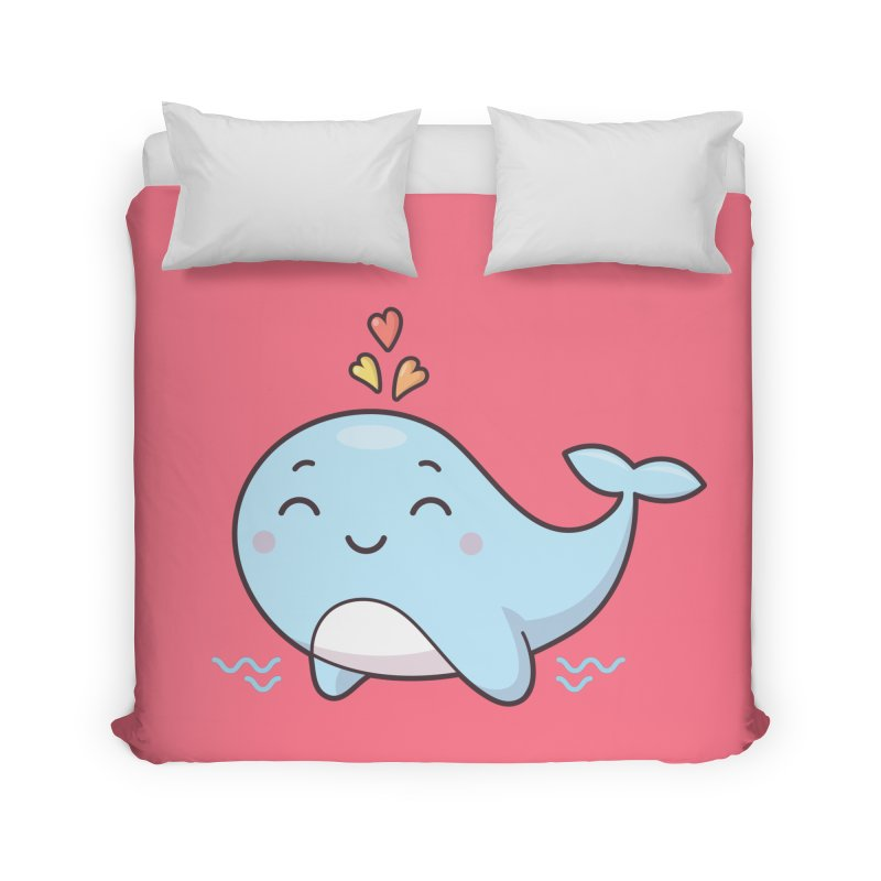 Cute Whale Home Duvet by zoljo's Artist Shop