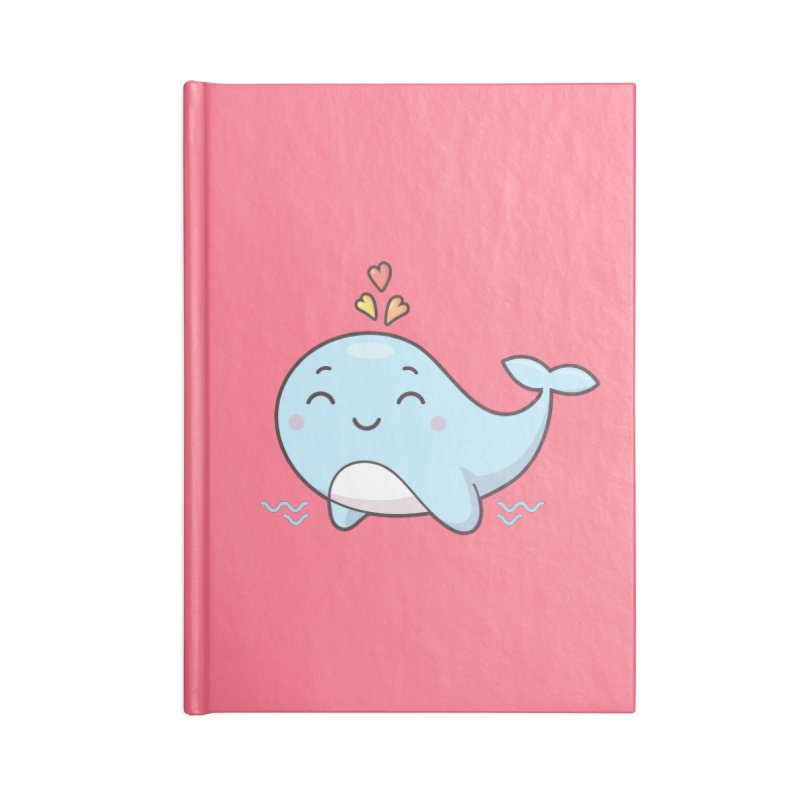 Cute Whale Accessories Blank Journal Notebook by zoljo's Artist Shop