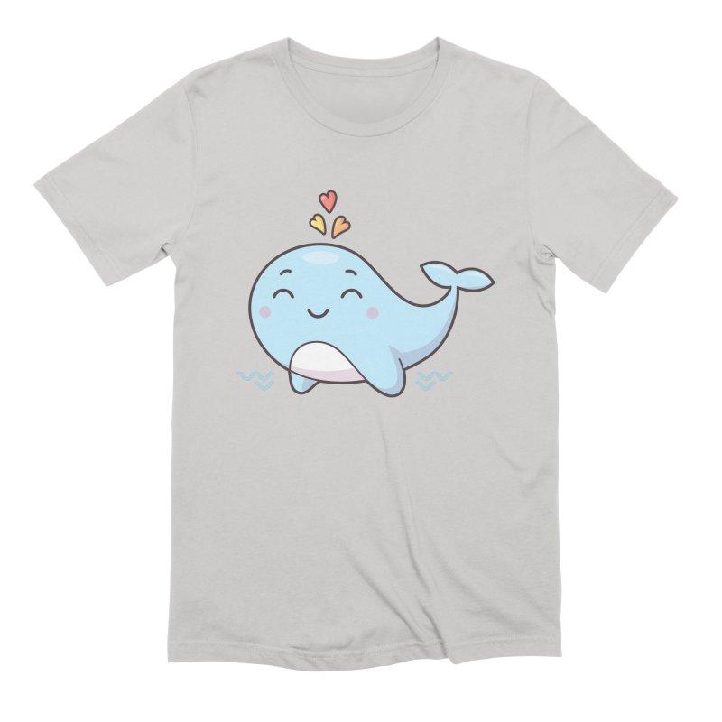 Cute Whale Men's Extra Soft T-Shirt by zoljo's Artist Shop
