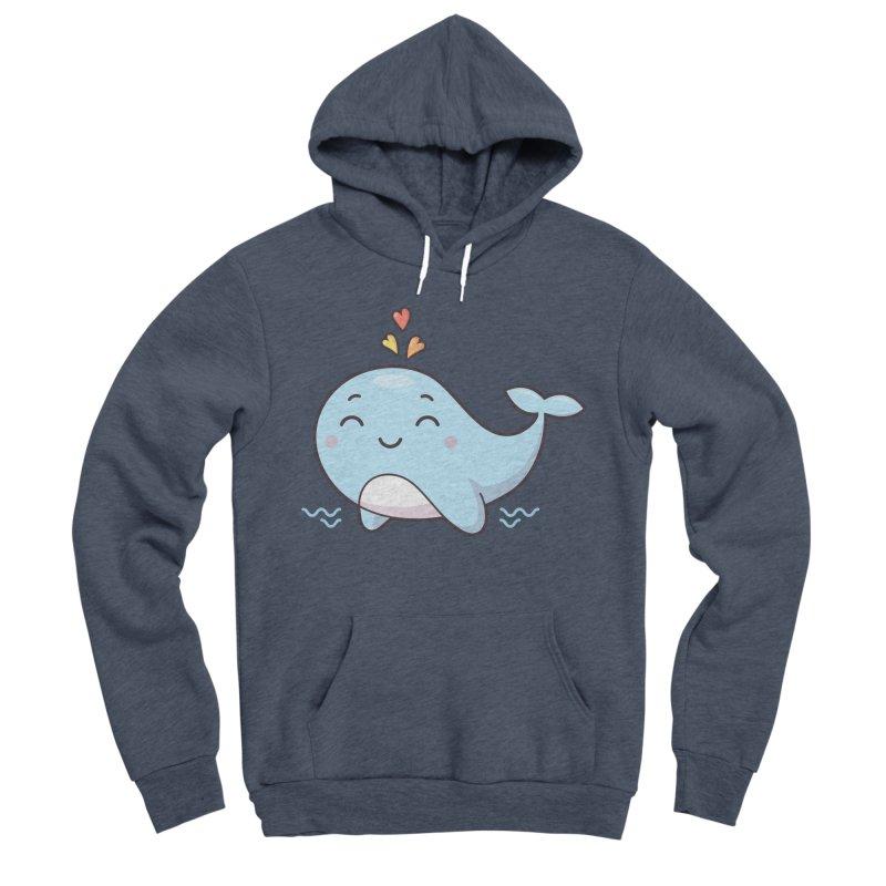 Cute Whale Men's Sponge Fleece Pullover Hoody by zoljo's Artist Shop