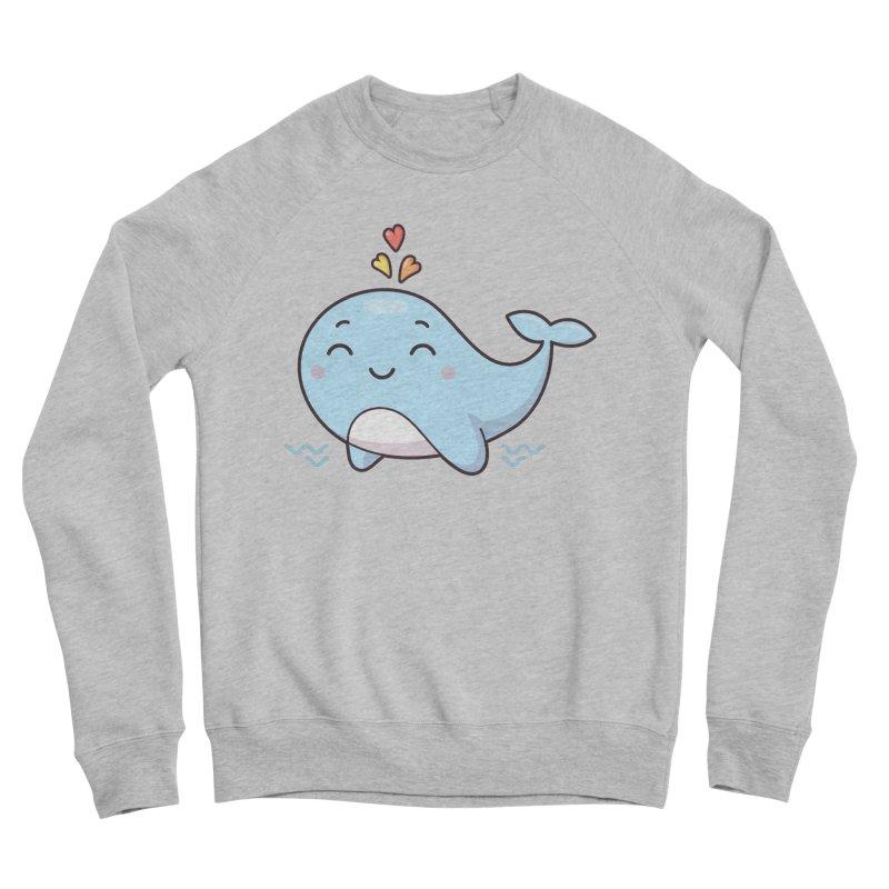 Cute Whale Women's Sponge Fleece Sweatshirt by zoljo's Artist Shop