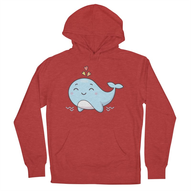 Cute Whale Women's French Terry Pullover Hoody by zoljo's Artist Shop