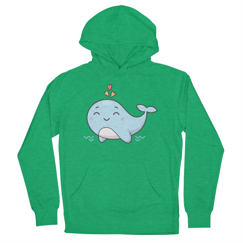 Cute Whale Men's French Terry Pullover Hoody by zoljo's Artist Shop