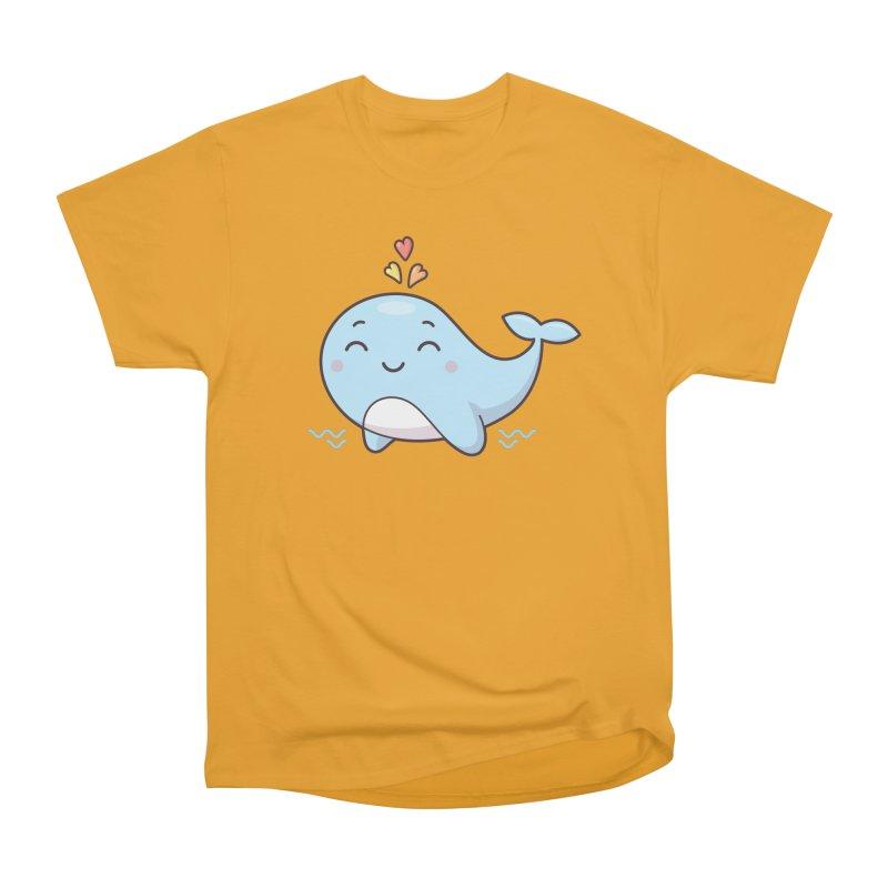 Cute Whale Women's Heavyweight Unisex T-Shirt by zoljo's Artist Shop