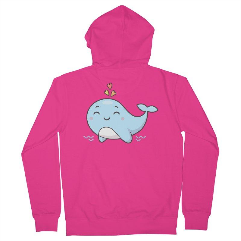 Cute Whale Men's French Terry Zip-Up Hoody by zoljo's Artist Shop