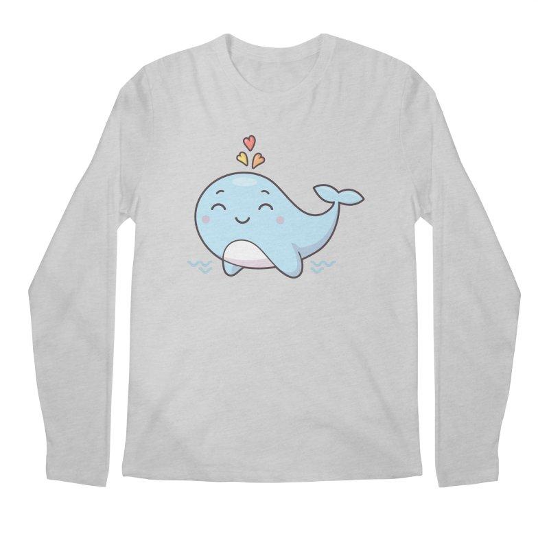 Cute Whale Men's Regular Longsleeve T-Shirt by zoljo's Artist Shop
