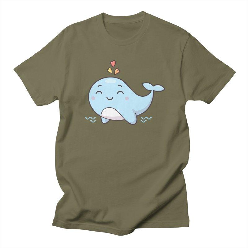 Cute Whale Women's Regular Unisex T-Shirt by zoljo's Artist Shop
