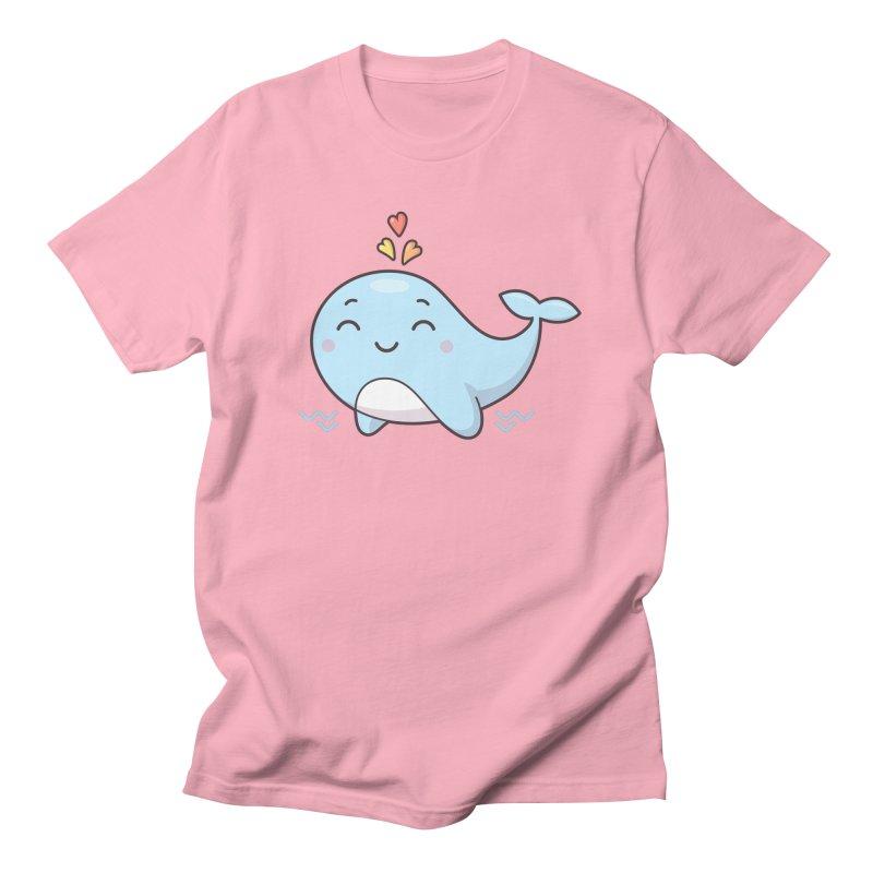 Cute Whale Men's Regular T-Shirt by zoljo's Artist Shop