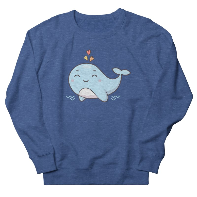 Cute Whale Women's French Terry Sweatshirt by zoljo's Artist Shop