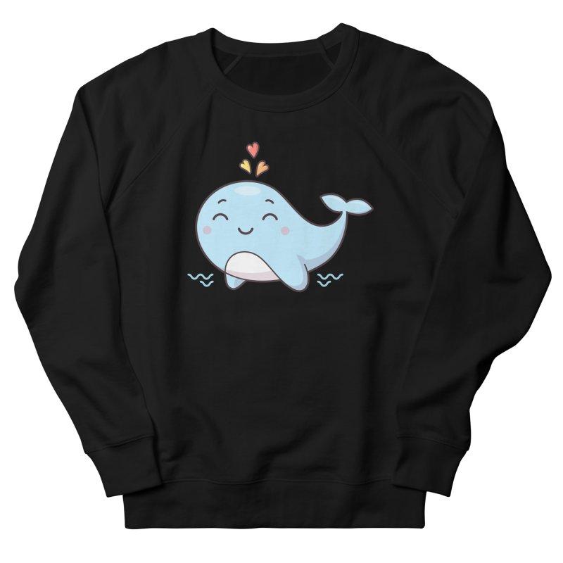 Cute Whale Women's French Terry Sweatshirt by zoljo's Artist Shop