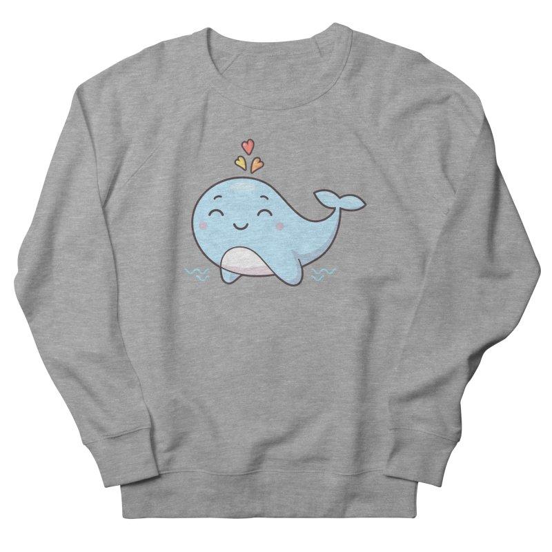 Cute Whale Men's French Terry Sweatshirt by zoljo's Artist Shop