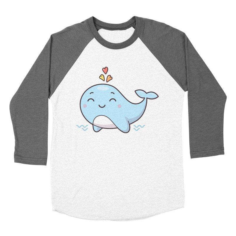 Cute Whale Women's Baseball Triblend Longsleeve T-Shirt by zoljo's Artist Shop