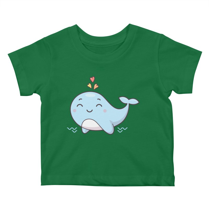 Cute Whale Kids Baby T-Shirt by zoljo's Artist Shop