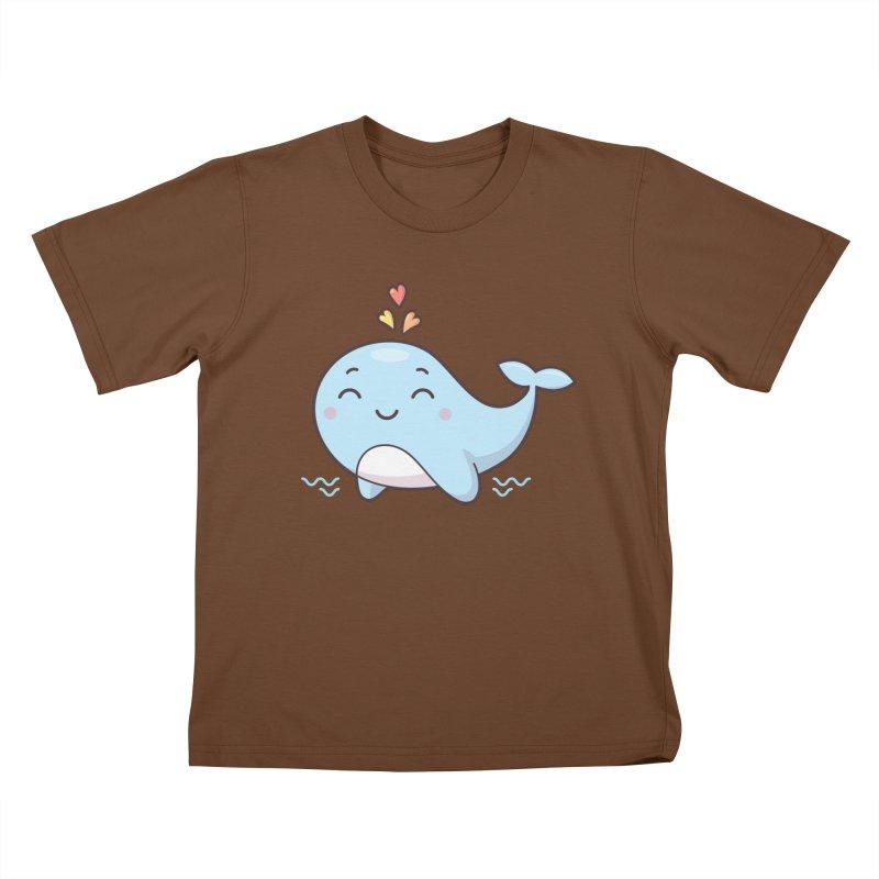 Cute Whale Kids T-Shirt by zoljo's Artist Shop