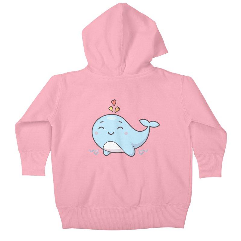 Cute Whale Kids Baby Zip-Up Hoody by zoljo's Artist Shop