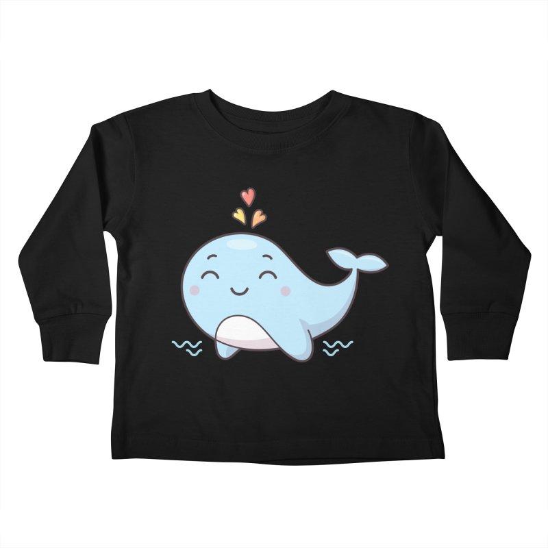 Cute Whale Kids Toddler Longsleeve T-Shirt by zoljo's Artist Shop