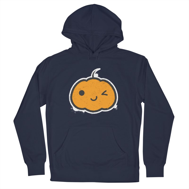 Cool Pumpkin Men's French Terry Pullover Hoody by zoljo's Artist Shop